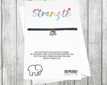 Elephant bracelet, Elephant gifts, Elephant Jewellery, Elephant print, Strength Bracelet, Friendship Bracelet, Friendship gift, Valentines