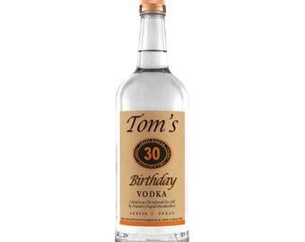 Birthday Tito's labels