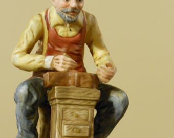 Clock Maker / Jeweler Figurine