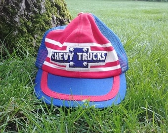 Red, White, and Blue Chevy Trucks Ball Cap
