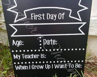 FIRST DAY back to school sign. Back to school picture sign. Kindergarden, 1st Grade-12th Grade!!