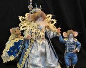 Needle Felted Mice, OOAK, Queen and two escorts