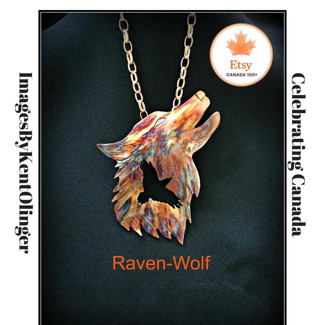 Raven Wolf Raven Jewelry Wolf Jewelry Crow Wolf Crow