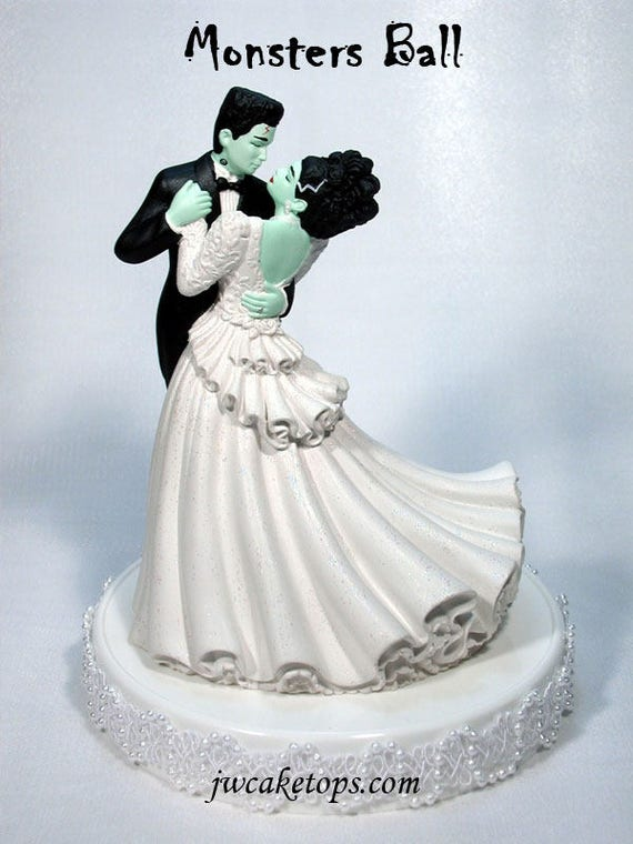 halloween wedding cake toppers frankenstein wedding cake topper 48mb 4674