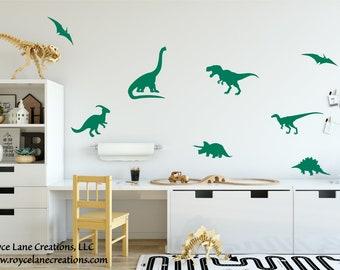 Dinosaur Decor/Dinosaur Sticker Set/Dinosaur Decal/Dinosaur Stickers/Dinosaur Decals for Wall/Dinosaur Decor for Boys Room/Dinosaur Wall Art