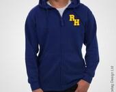 Archie Zippy Hoodie Navy Blue Zip Hoody Letter R H Zipped Hooded Sweatshirt Long Sleeve Sleeved TV Show Top Costume Tee Cosplay Outfit New