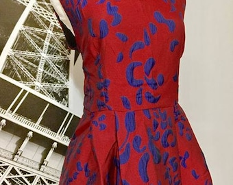 Couture Silk Jacquard Day Dress