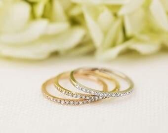 Thin half eternity wedding band brilliant cut natural white diamond, simple minimalist half eternity ring 14k 18k gold platinum, met-r101