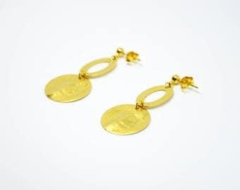 Boucles THEA // dorées à l'or fin