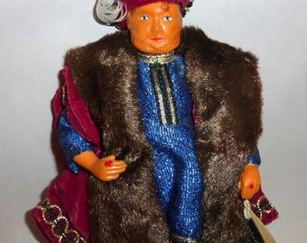 """Vintage 1970 Peggy Nisbet 8"""" Doll - King Henry VIII"""