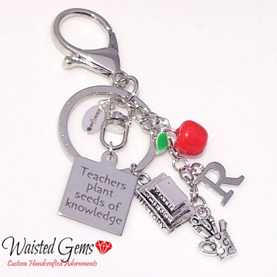 Teachers Plants Seeds Custom Key Chain, Teachers Gifts, Back to School, Students, Custom Key Chains, Teaches, zmw9902.1