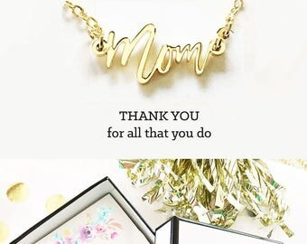 Mom Necklace Mom Jewelry Gift Christmas Gifts Mom Thank You Gift Mom Gifts for Christmas Mom Gifts from Daughter from Son (EB3151MOM)