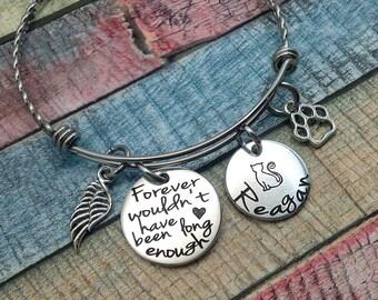 Cat Memorial Gift, Pet Loss Gift, Loss of Cat, Memorial Bangle, Sympathy Bracelet, In loving memory of Cat, Cat Death Gift, Custom Bracelet
