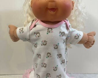 "Cabbage Patch Baby Clothes - 14 inch Doll Clothes, Super Cute ""KITTY CAT"" Nightgown, Cabbage Patch 14 inch BABY Clothes"
