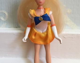 "Vintage 1990s 6"" Yellow Sailor Venus Moon Doll!"