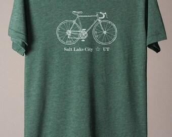 Salt Lake City bike tee, SLC t-shirt, Utah tee, Utah t-shirt, SLC cycling