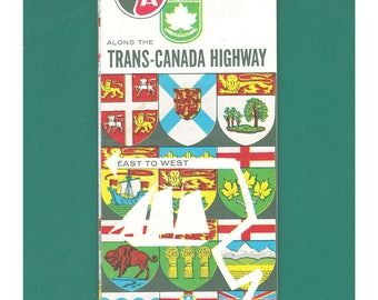 B/A Trans-Canada Highway Vintage Travel Map