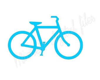 bike svg, bike silhouette file, bike cricuit file, bike