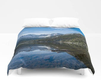 Mountain Duvet Cover Queen Unique, King Sized Bedding, Colorado Mountains Photo Bedding, Colorado Landscape Art For Bedroom, Twin Duvet