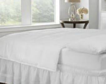 Ruffled Bedskirt - Cotton Bed Skirt - Country Bedskirt - Bedding - Bedskirt - Bed Valance - Queen Size - Choose Drop