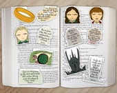 Lord of the Rings Magnetic Bookmarks Set - Aragorn, Legolas, Sauron, The Ring, Bilbo, and Bagend Clips