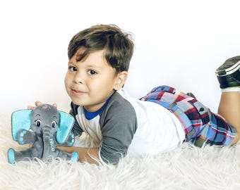 Elephnat Stuffed Animal for Boys, Personalized Gift
