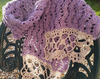 Linen and Lace Scarf - Intermediate Crochet Pattern with FREE additional Border pattern