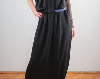 black maxi dress/Sexy dress/long dress/ unique dress