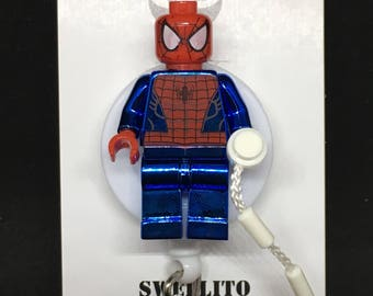 Blue Chrome Spiderman™ Marvel® Avengers© ID Holder Customized ~ Retractable Badge Reel ~ Belt Clip ~ Alligator Clip ~ Keychain