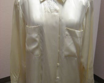 Nice cream vintage Christian Dior silk blouse