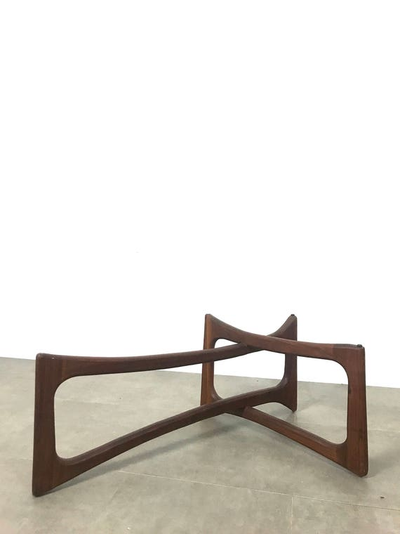 Adrian Pearsall Sculpted Walnut Table Base 1960's