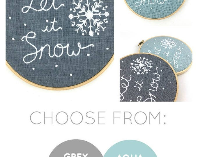 Let It Snow Embroidery Kit {basic}