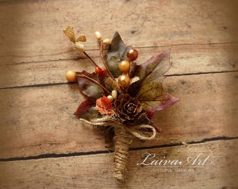 Fall Wedding Boutonniere Groom Boutonnieres Groomsmen Boutonnieres