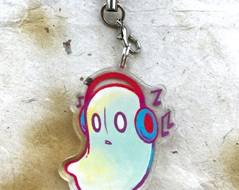 "Undertale Napstablook 1.5"" Acrylic Charm - Keychain or Cell Phone Charm"