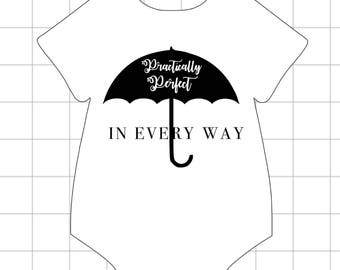 Practically Perfect// Mary Poppins onesie