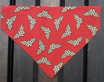 Wonder Woman  Dog Bandana | Pet Bandana | Over the Collar