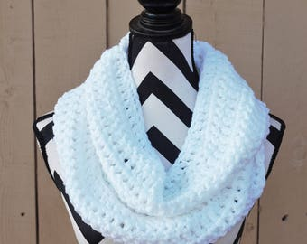 Ready to Ship Bright White Infinity Scarf