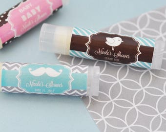 """Personalized Lip Balm Favors, """"Baby Silhouette Icon"""" (Set of 24)"""