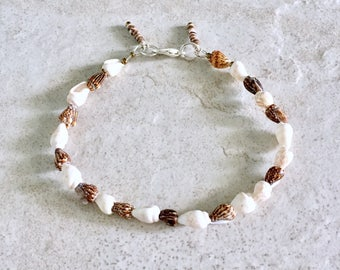 Summer Jewelry, Bracelet, Dainty Bracelet, Shell Bracelet, Beach Bracelet, Beach Jewelry, Seashell Jewelry, Bohemian Jewelry, Boho Bracelet