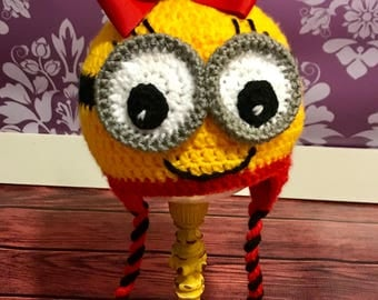 Minion Crochet Earflap Hat