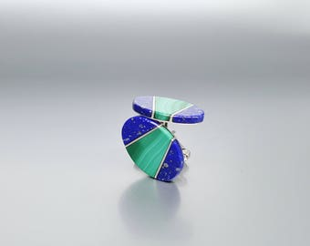 Men's cuff links Lapis Lazuli, Malachite and Sterling silver.Cufflinks/Gift for Men/Man jewelry/Mens Accessory/Jewelry For Men/multi stone
