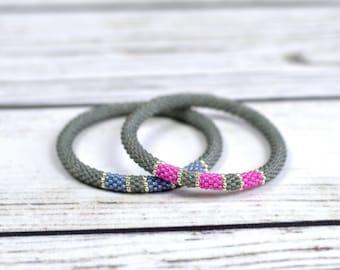 friendship bracelet set couples bracelets best friend gift for couples wedding gift ideas gray bracelets gift for boyfriend her his jewelry