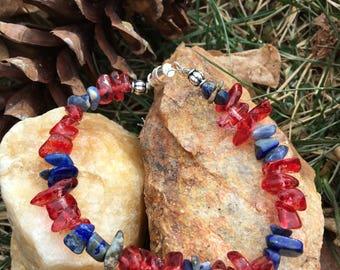 Buffalo Inspired Lapis Lazuli Bracelet