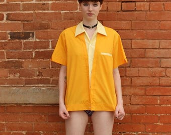 Pla-Shirt by Dunbrooke 1970s Vintage Embroidered Bowling Shirt