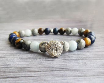 Bold Mens Bracelet Marble bracelet Gifts|for|brother Gifts Stones Bracelets Luxury Bracelets Balance Bracelets Animal bracelets for men