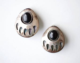 Vintage Native American Style Clip-On Earrings