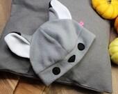 Cute wolf fleece hat