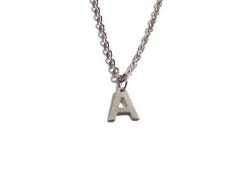 Letter necklace, Silver initial necklace, Personalized jewelry, Initial necklace, personalized necklace, bridesmaid gift, monogram jewelry