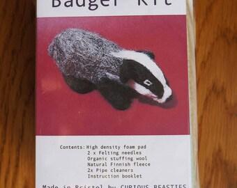 Needlefelted Badger Kit