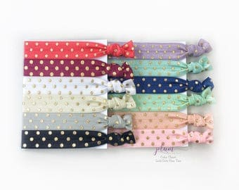 Color Chart for Polka Dot Hair Ties (Gold and Silver) // *Not For Purchase*
